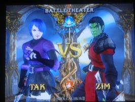 Tak vs. Zim in Soul Calibur by Darkmoose84