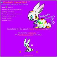 Rosebud Journal Skin by Kitzophrenic