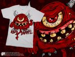 the red devil t-shirt by p32n