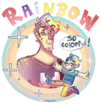 Rainbow Markiplier by Cheapcookie
