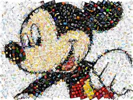 Mickey Mouse Mosaic 2 by Cornejo-Sanchez