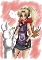 Rabbids falling in love raywoman!! by lilico72