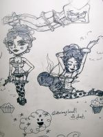 Pin Up Scribbles by LovelyLiar