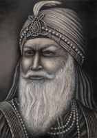 'Maharaja Ranjit Singh'  Graphite drawing by Pen-Tacular-Artist