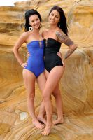 Tara and Justine - blue and black 4 by wildplaces