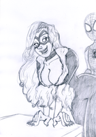 Black Cat sketch by JoffOliver