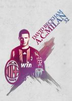 David Beckham A.C. Milan by Nakrocp