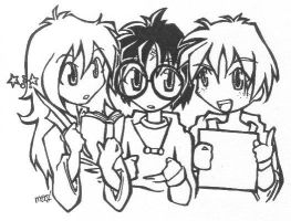 hermione harry and ron by lene