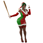 STOCK Fuq You, Santa! - Seasonal Hire Uniform by ambient-avalancher