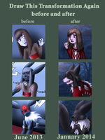 Draw This Transformation Again - into Kitsune by JackFrostOverland