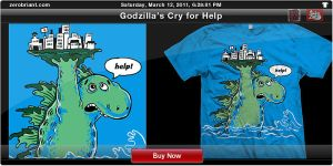 Godzilla's Cry for Help by zerobriant