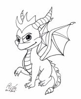 Spyro the Dragon BW by Ricku