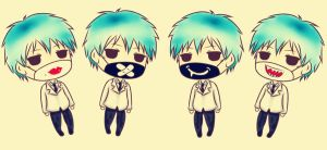 Kuroko with masks... by Xin-W