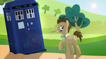 A Doctor and His Tardis by ShutterflyEQD