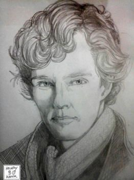 Benedict Cumberbatch by BLUEHAWK-55