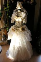 Lady of the swans dress .. romantic steampunk by S-T-A-R-gazer