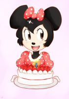 Minnie birthday cake by funnbunns