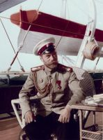 Nicholas II on Board the Imperial Yacht by KraljAleksandar