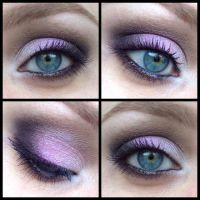 Purple and Brown Smokey Eye by Miss-Reptilian