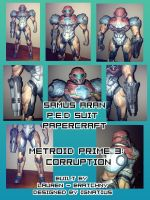 Samus - PED Suit Papercraft by bratchny