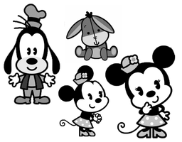 Disney Cuties brush pack 1 by SweetStolenCookie
