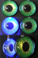 3cm 3D Green Blue Led by DreamVisionCreations
