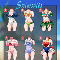 Swimsuit Outfit Adopts [Closed] by VanillaCirque