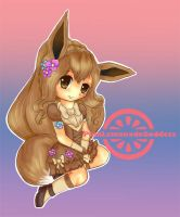Eevee Gijinka by PinkLemonadeGoddess