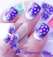 Basic Gradient Fimo Nail Art by EmpressTang