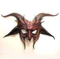 Red Devil Goat Leather Mask by teonova