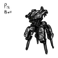 American Pit-bull infantry support drone by rooki1