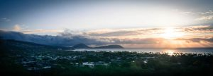 Sunrise from Diamond Head National Park Crater by Natures-Studio