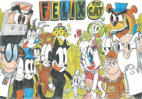 Felix The Cat And Friends(Remake Drawings!!) by FelixToonimeFanX360
