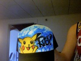 Custom Made Pikachu Hat by The-Insane-Puppeteer