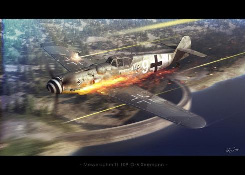Messerschmitt 109 G6 Seemann by Kermit3D