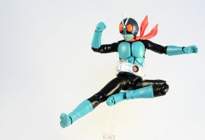 SHF - Kamen Rider 1 (Original Colours) Rider Kick by Tformer