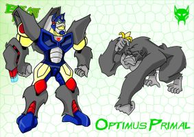 BW Animated Optimus Primal by PWThomas