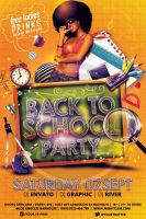 Back To School Party Template Vol_02 by koza30