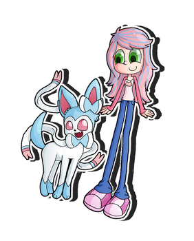 Request: Sam and Sylveon by Revlie