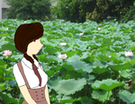 Looking out at the Lily Pads by LadyAquatica