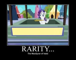 Rarity Motivational by CrossoverPrincess