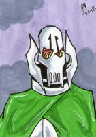 general grievous sketch card by johnnyism