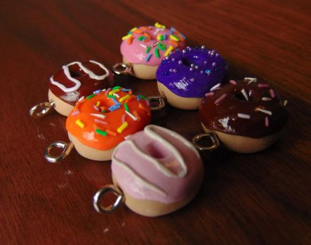 Little Donut Charms by SolarCrush