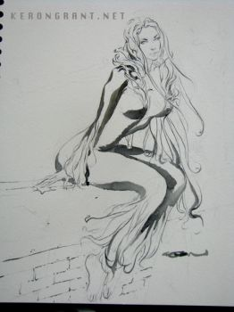 Black Cat con sketch by Kerong