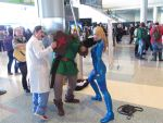 Link, Dr.Mario, and Samus by BleachcakeCosplay