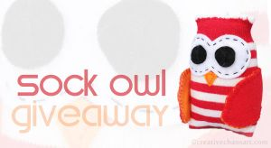 Sock Owl Giveaway by bicyclegasoline