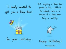 Baby Bear Birthday Flip by sebreg