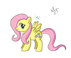 Fluttershy Colour by TenshiHoshino