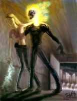 Ghost Rider saves a girl by ryuzo