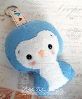 Blue Penguin Plushie Keychain by littleblueheartsuk